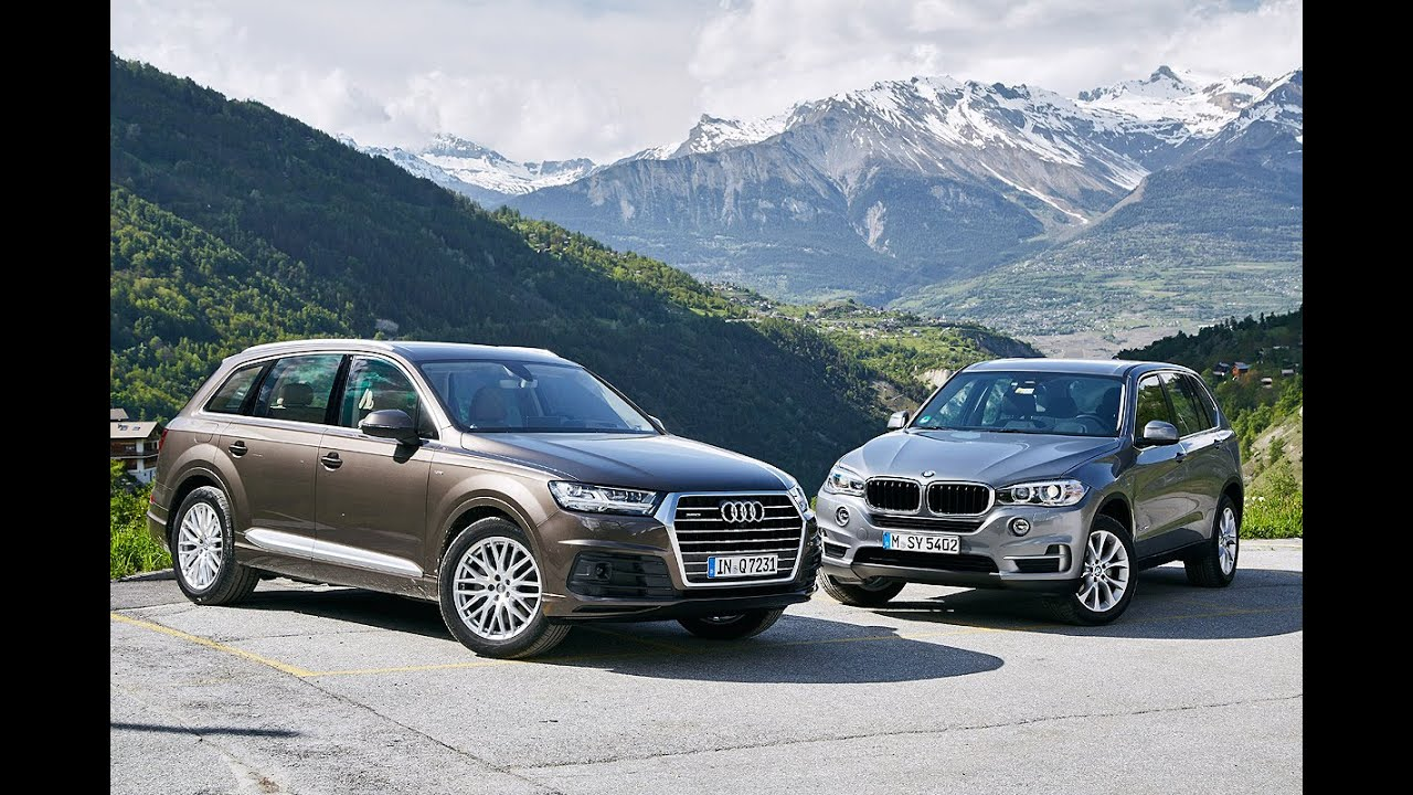 duell der luxus suv audi q7 vs bmw x5 2015 youtube. Black Bedroom Furniture Sets. Home Design Ideas