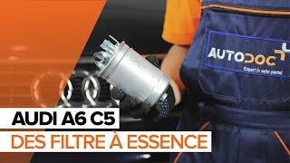 Montage Coussinet de palier stabilisateur AUDI A6 Avant (4B5, C5) : vidéo gratuit