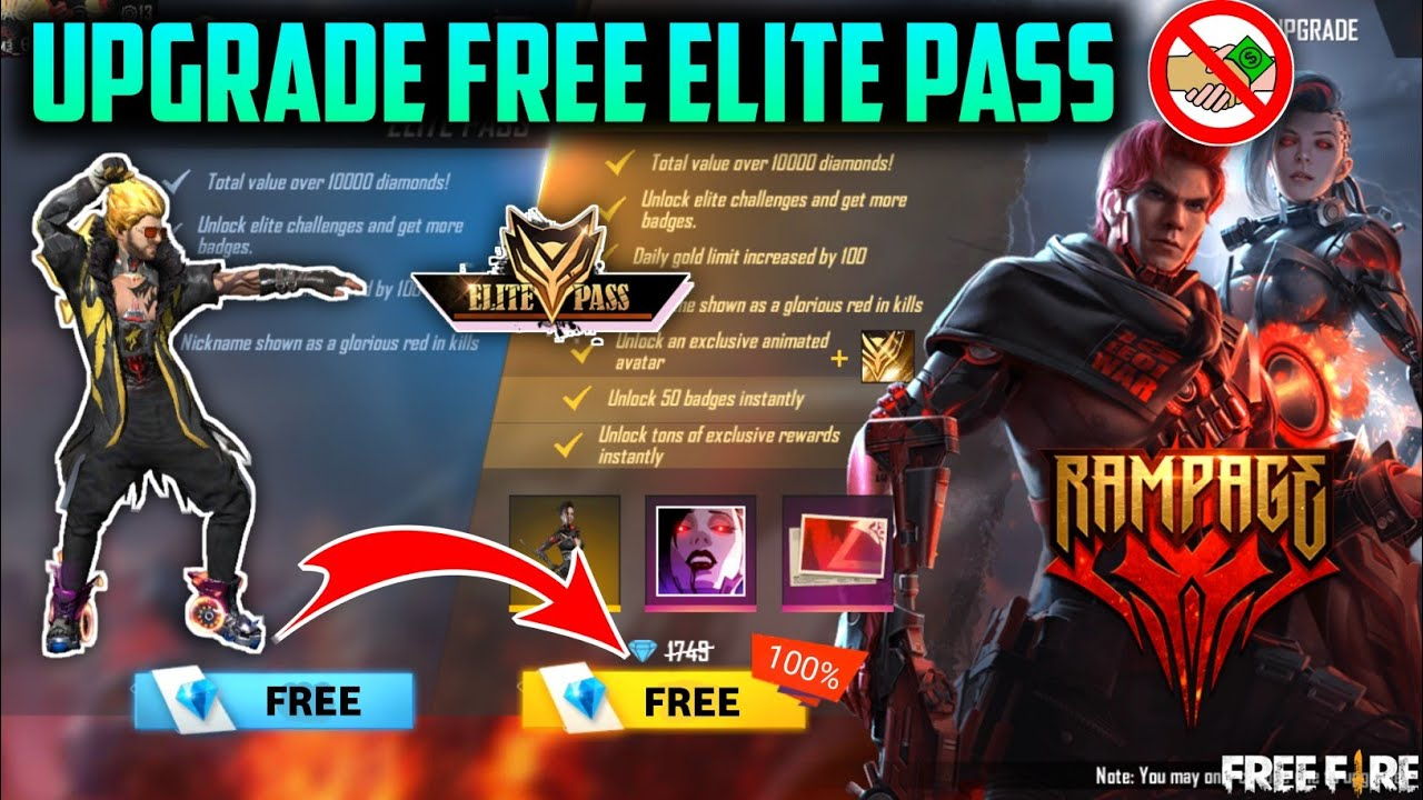 HOW TO GET FREE ELITE PASS IN FREE FIRE || GET ELITE PASS FOR FREE NEW TRICK - GARENA FREE FIRE
