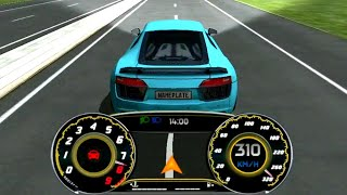2019 AUDI R8 V10 PLUS PURE SOUND AND TOP SPEED ATTEMPT-REAL DRIVING SIM