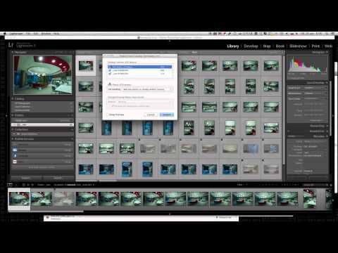 Как импортировать фотографии с одного проекта LightRoom в другой
