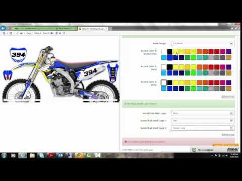 Suzuki RM / RMZ Graphics and DeCals T-3 Kit