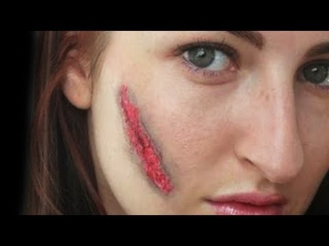 halloween make up  easy scar  youtube