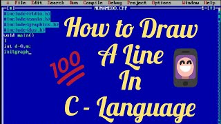 How to draw a Line in C- Language (Graphics)