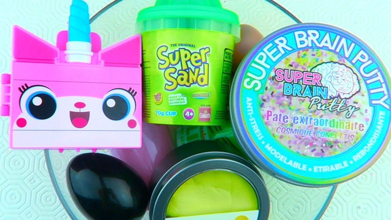 Mixing Store Bought Slimes My DIY Slimes Cloud Slime And Super Sand!