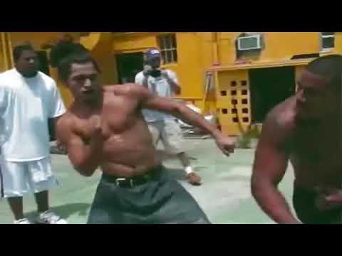Настоящая уличная драка на кулаках боец UFC Масвидаль с тяжеловесом который решил ему отомстить