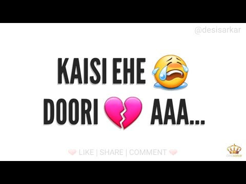 💔 Ninja : Aadat : Punjabi Sad Song : Whatsapp Status Video 2017 💔