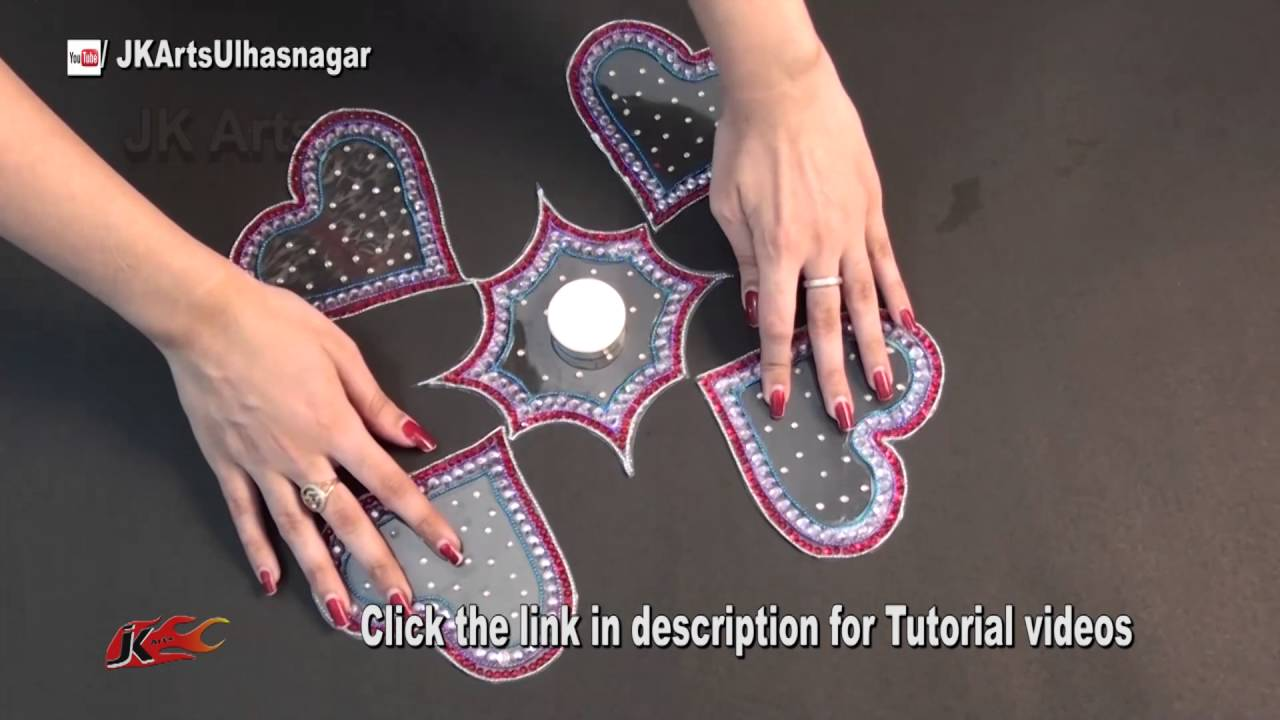 Papercraft Rearrangeable Kundan Rangoli Idea | JK Craft Ideas 086