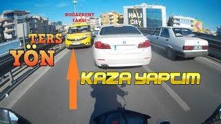 BMW'ye ÇARPTIM I KAZA YAPTIM I TERS ŞERİTE GİREN TAKSİ