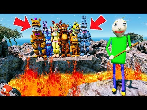 WILL BALDI PUT THE ANIMATRONICS IN A VOLCANO? (GTA 5 Mods FNAF Kids RedHatter) thumbnail