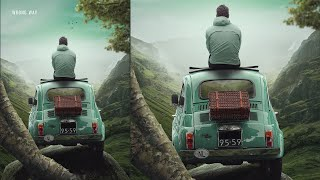 Wrong Way Photo Manipulation Photoshop Tutorial