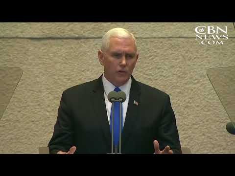 Pence Praises 'the Miracle Israel,' Pledging to Open US Embassy in Jerusalem in 2019
