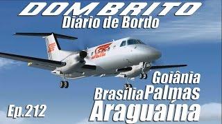 FS2004 / FSX - Embraer 120 Sete - Goiânia / Brasília / Palmas / Araguaína - Ep.212