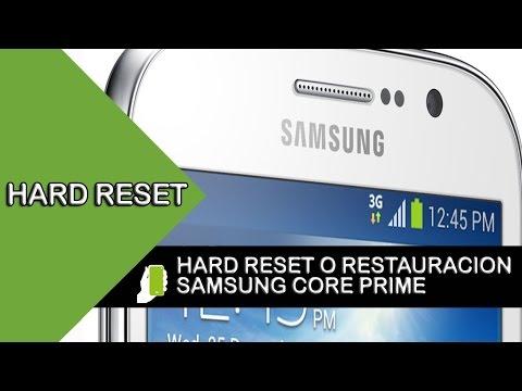 Samsung Galaxy Core Prime HARD RESET o  Restauración De Fabrica