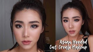 Asian Cut Crease Glitter Eyeshadow (Hooded Eyes)