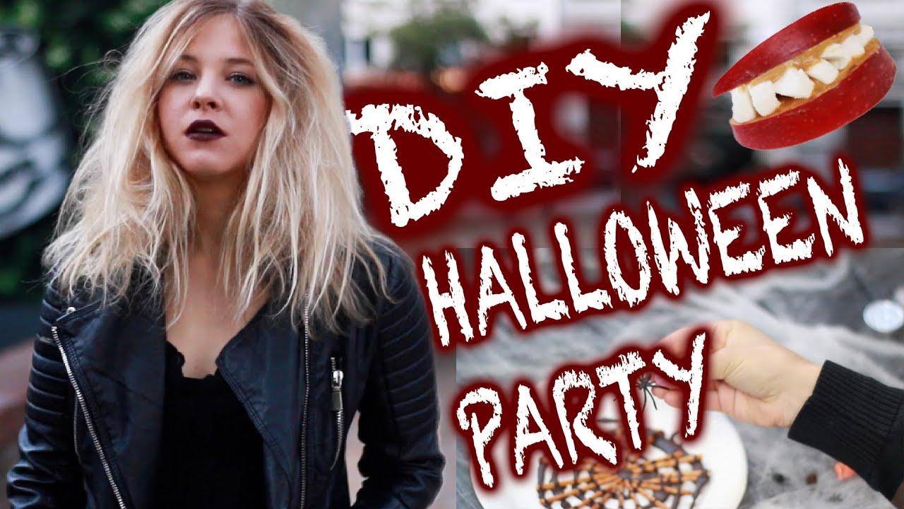 halloween party diy i gruselige snacks deko last minute costume youtube. Black Bedroom Furniture Sets. Home Design Ideas