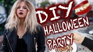 Diy Halloween Party I Einfache Snacks, Deko + Last Minute Costume
