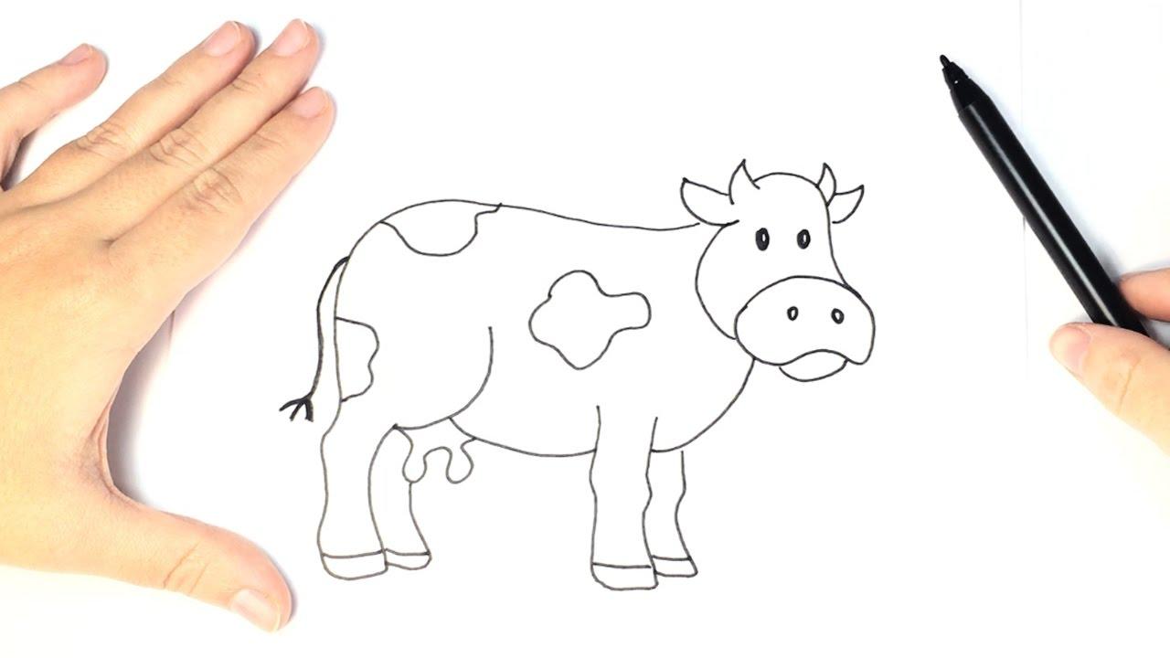 Como Dibujar Una Vaca Para Ninos Dibujo Facil De Vaca Youtube
