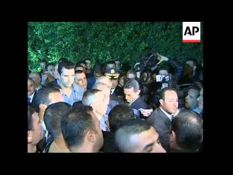 Pres Lahoud leaves palace,  Telecom minister reax, celebrations
