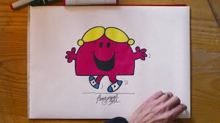 M&S | How t๐ draw Little Miss Chatterbox with Adam Hargreaves.