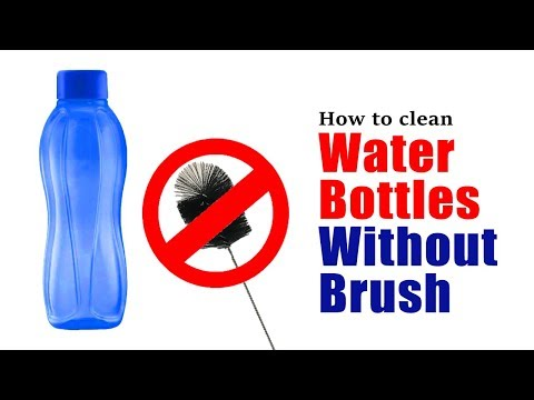How to clean water bottles without brush | Easy DIY to clean smelly water bottles
