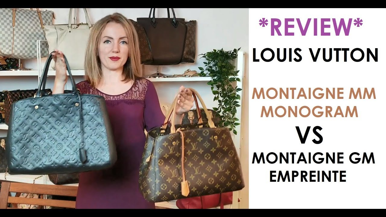 c1594ea35430d Louis Vuitton Montaigne MM vs Montaigne GM Comparison   What s In My Bag    Tips on How to Wear