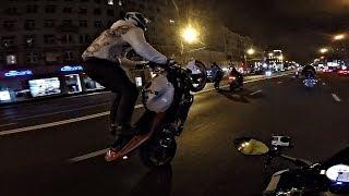 Незаконный Массовый Street Kill по ночным улицам Москвы || Навал и стантрайдинг