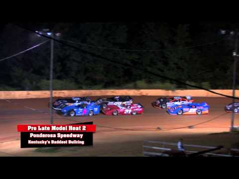 Pro Late Model Heats at Ponderosa Speedway Aug  22 , 2014