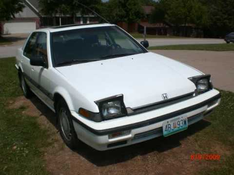 1989 honda accord tribute youtube. Black Bedroom Furniture Sets. Home Design Ideas