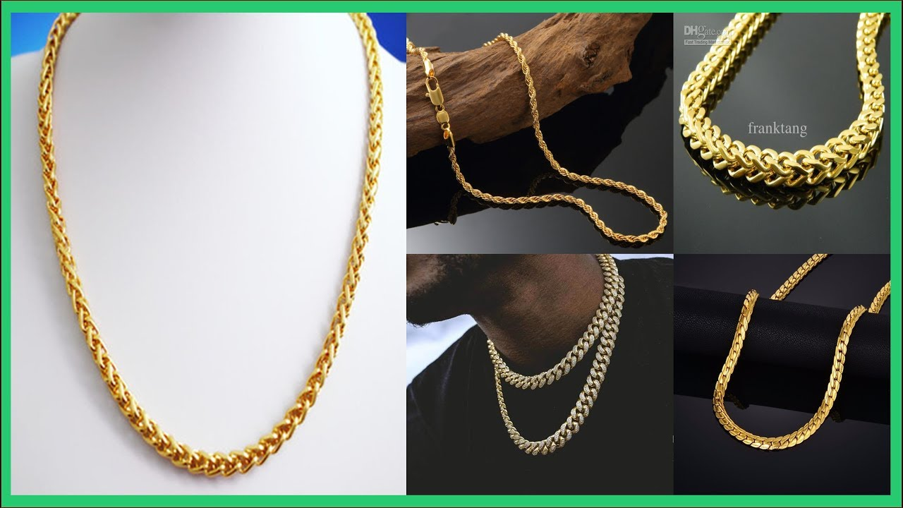 Top 45 Gold Necklace For Men Gold Jewellery Designs Mens Gold