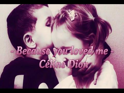Celine dion because you loved me subtitulada español letra
