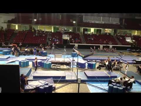 High Bar Gymnast Takes Out Coach