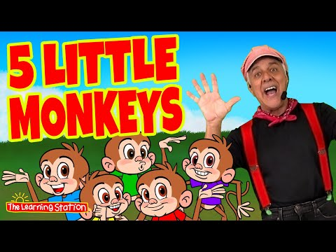 5 Little Monkeys ? Jumping On The Bed ? Brain Breaks ? Nursery Rhymes  Songs by The Learning Station