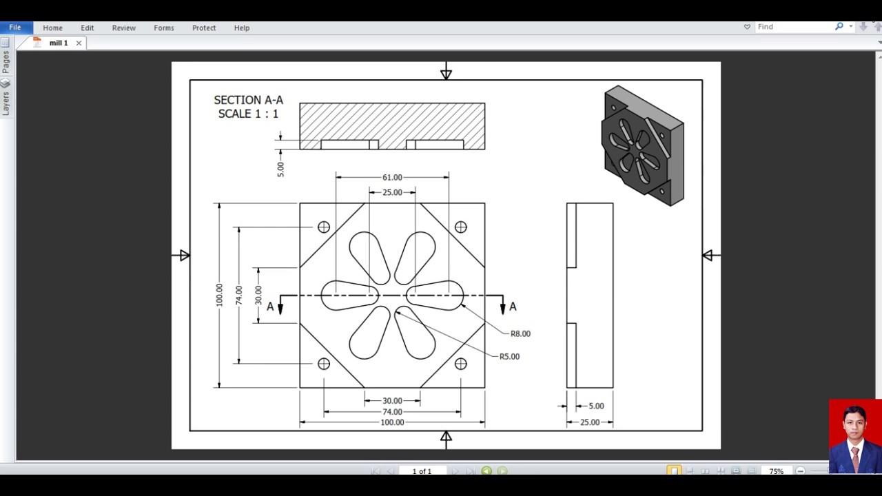video tutorial mastercam x4 milling 1 youtube Mastercam Desktop Mastercam X4 Tutorials