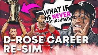 WHAT IF DERRICK ROSE NEVER GOT INJURED? CAREER RE-SIMULATION IN NBA 2K21