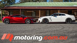2017 Honda NSX versus Nissan GT-R NISMO    motoring.com.au