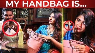 VIJAY TV Nithyasree's Handbag Secrets Revealed   FUN Overloaded !