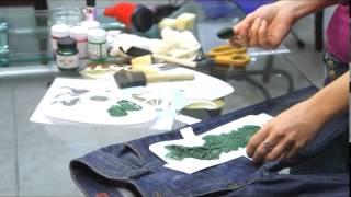 Учимся декорировать джинсы