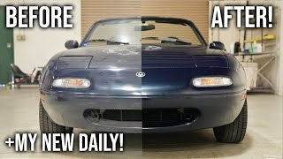 Barn Find Miata - First Wash in 5 Years! (Extremely Satisfying)