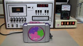 1999 Barbie BE-410 portable cassette player