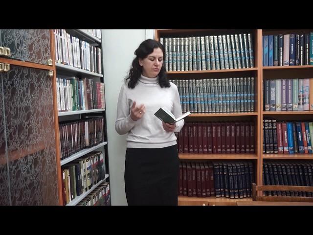 Изображение предпросмотра прочтения – НинаДавыдова читает произведение «Она сидела наполу…» Ф.И.Тютчева