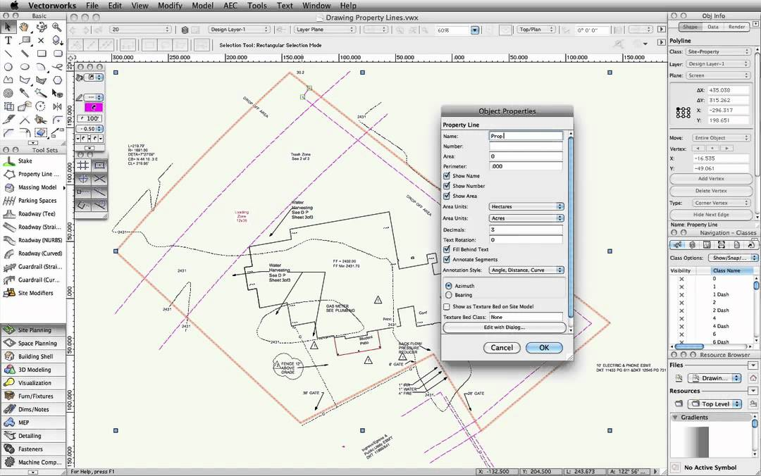 Drawing Property Lines In Revit : Drawing property lines youtube