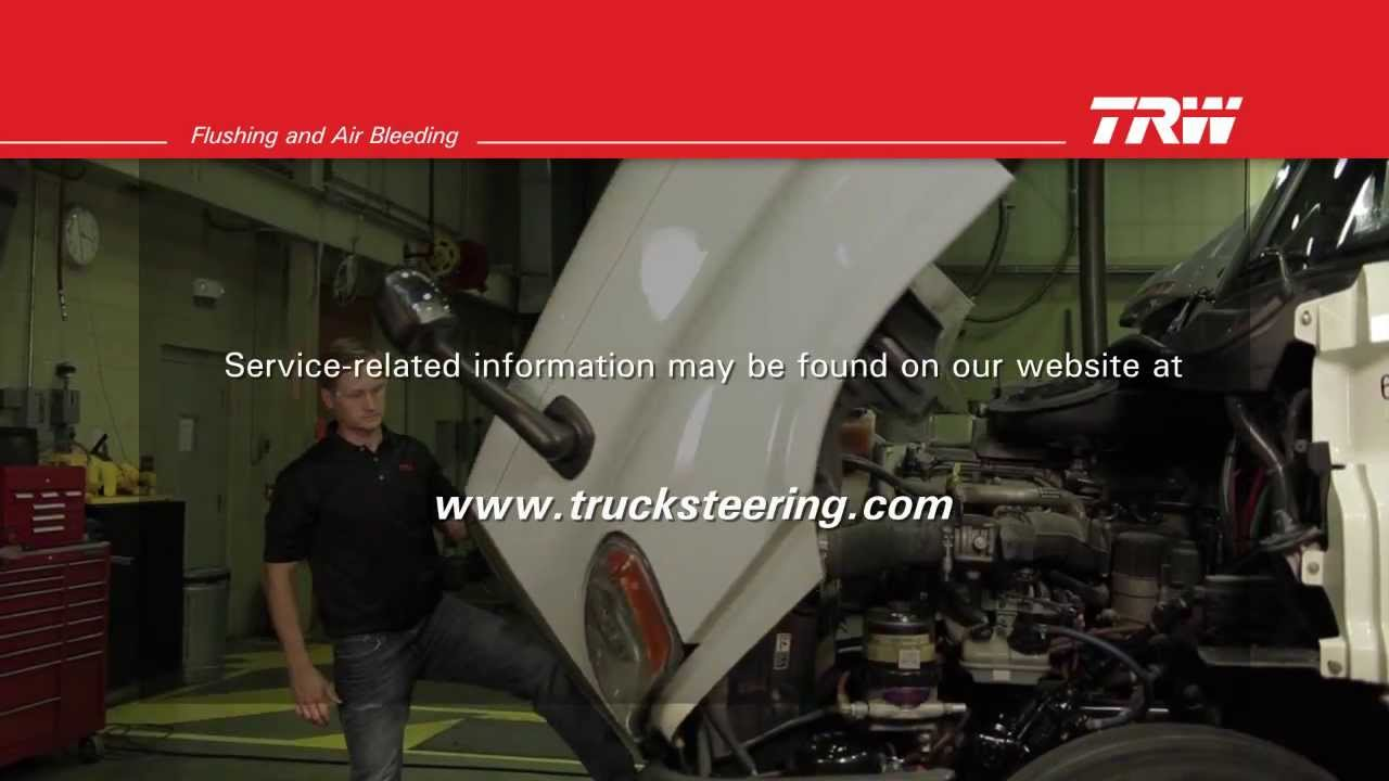 trw commercial steering systems flushing and air bleeding the hydraulic steering system youtube [ 1280 x 720 Pixel ]