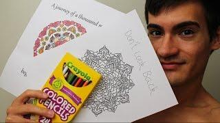 Coloring a Mandala Pattern for Relaxation, Sleep & ASMR - MandaColoring