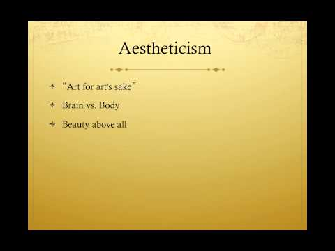 Lecture 5, Part 2: Wilde and Aestheticism