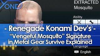 "Renegade Konami Dev's ""Vengeful Mosquito"" Signature in Metal Gear Survive Explained"