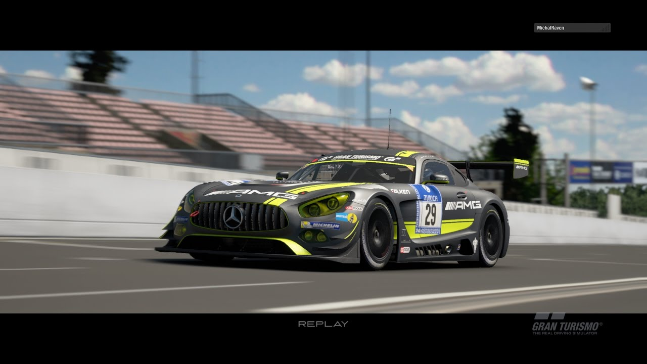 gran turismo sport beta mercedes amg gt gt3 at nordschleife replay youtube. Black Bedroom Furniture Sets. Home Design Ideas