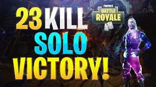 Fortnite Galaxy Skin Gameplay! 23 Kill Solo Victory! (Fortnite Battle Royale!)