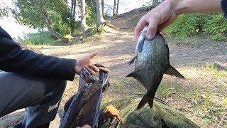 Ловля леща на Острошицком водохранилище Лещ чуть не украл фидер фидер