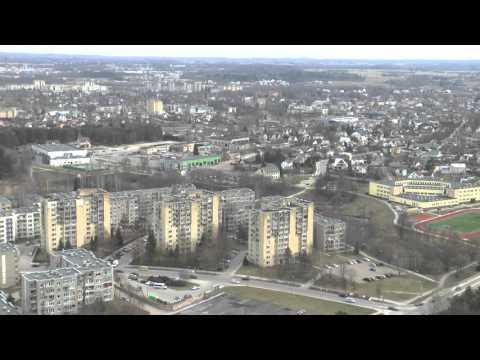 Utena iš aukščiau. Utenos miestas 2016.04.05
